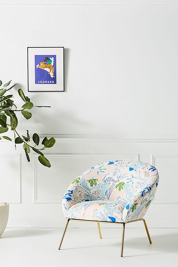 Midnight Jasmine Hillside Accent Chair by Emily Isabella