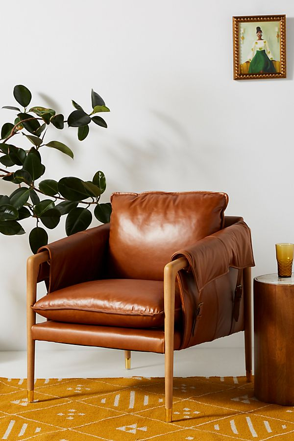 Slide View: 1: Havana Leather Chair