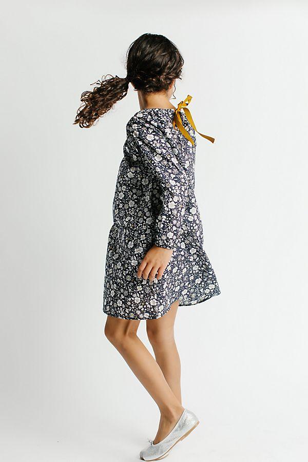 Slide View: 2: Les Petits Carreaux Printed Fleur Dress