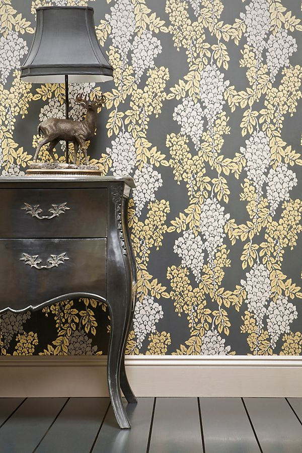 Slide View: 1: Farrow & Ball Wisteria Wallpaper