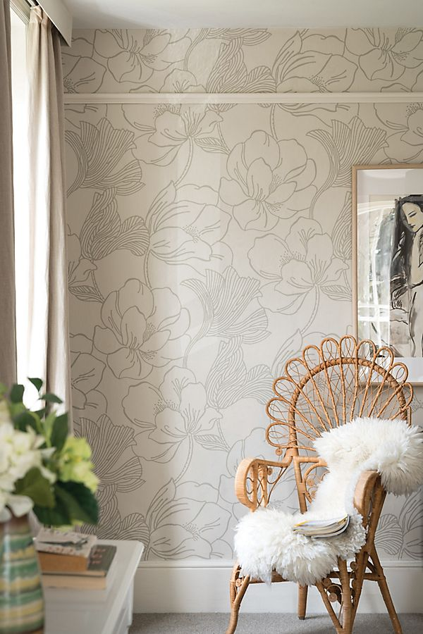 Slide View: 1: Farrow & Ball Helleborus Wallpaper