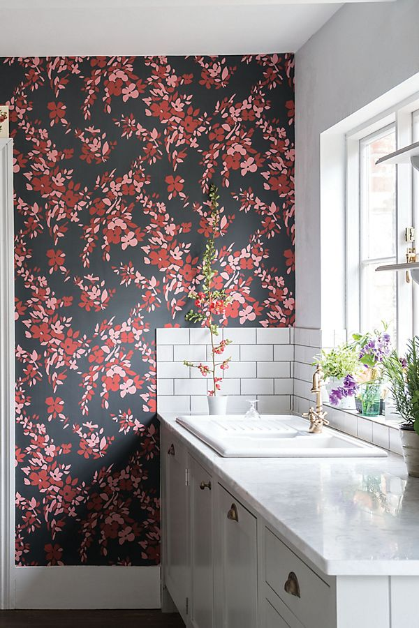 Slide View: 1: Farrow & Ball Hegemone Wallpaper