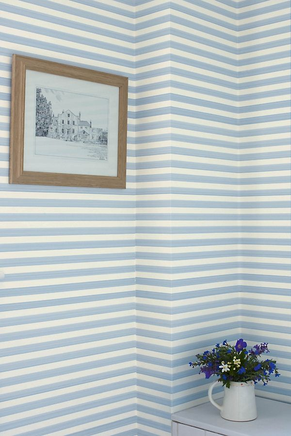 Slide View: 1: Farrow & Ball Closet Stripe Wallpaper