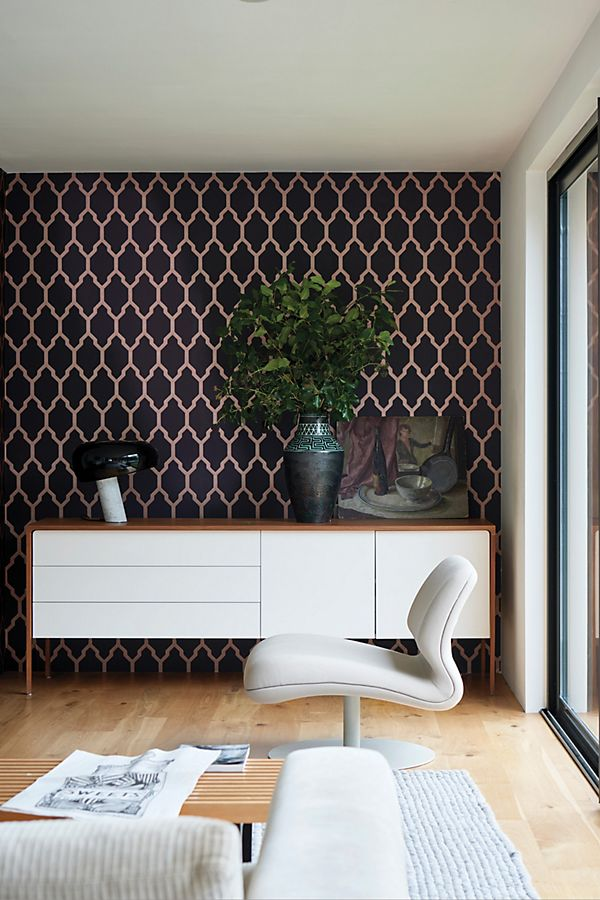Slide View: 2: Farrow & Ball Tessella Wallpaper