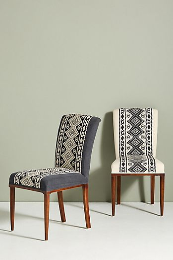 Diamond Striped Elza Dining Chair