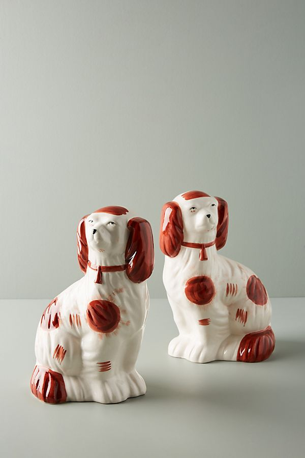 Slide View: 1: Staffordshire Dogs, Set of 2