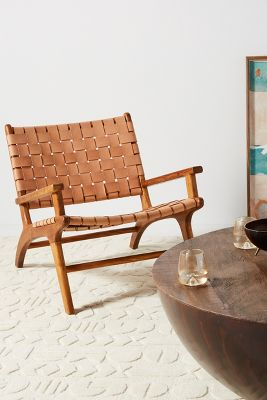 Kamara Leather Loomed Chair by Anthropologie