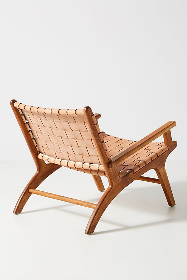 Remarkable Kamara Leather Loomed Chair Onthecornerstone Fun Painted Chair Ideas Images Onthecornerstoneorg