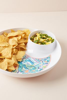 Hailee Melamine Chip & Dip by Anthropologie