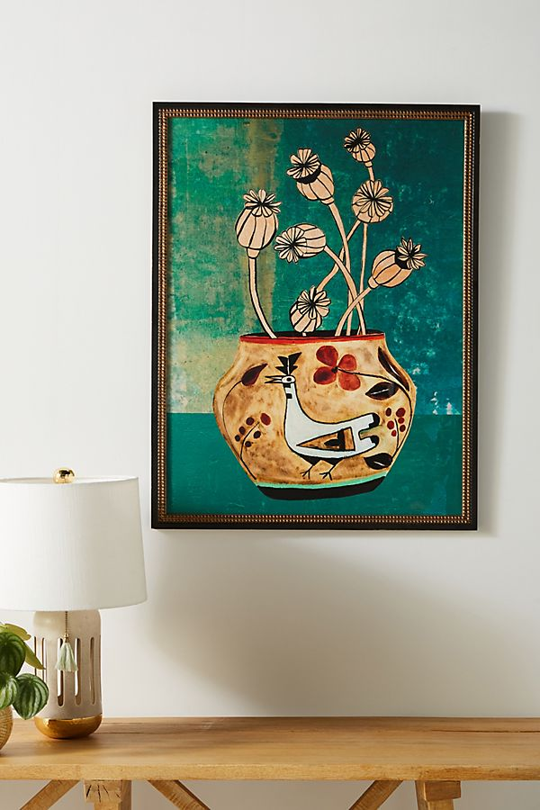 Slide View 1 Poppies Vase Wall Art