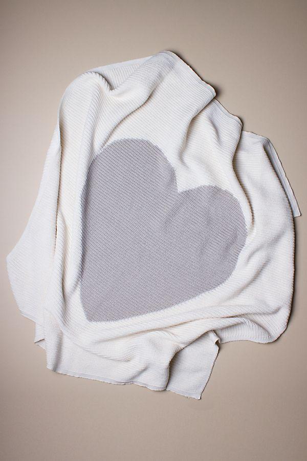 Slide View: 1: Estella Heart Cotton Baby Blanket