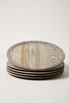 Slide View: 1: Farmhouse Pottery Crafted Wooden Charger