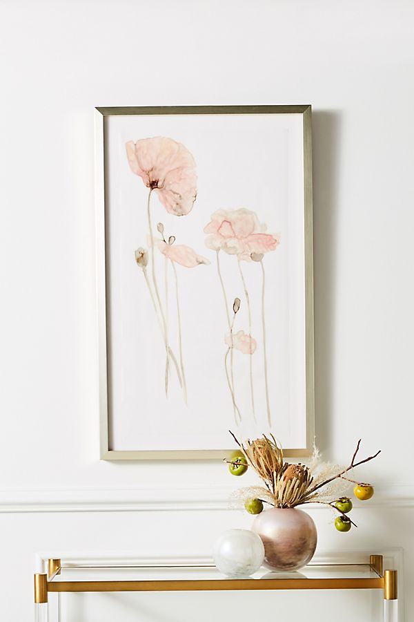 Slide View: 1: Translucent Floral Wall Art