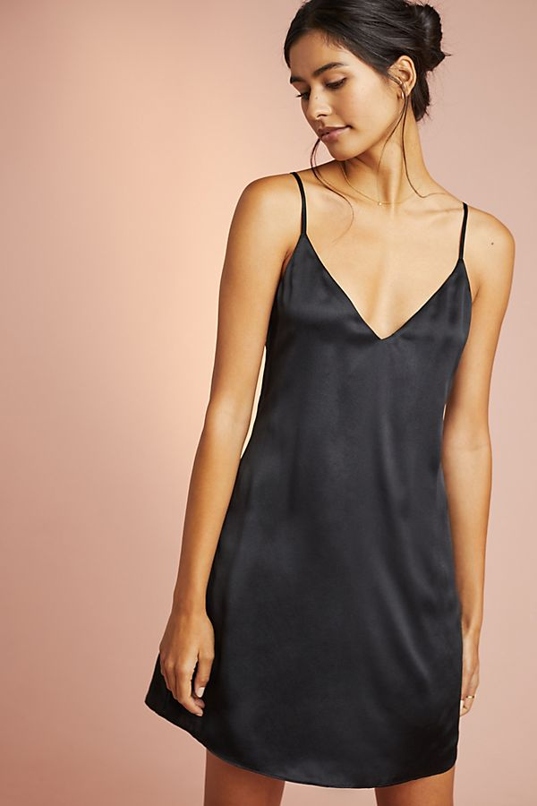 Slide View: 1: Thalia Silk Slip Dress