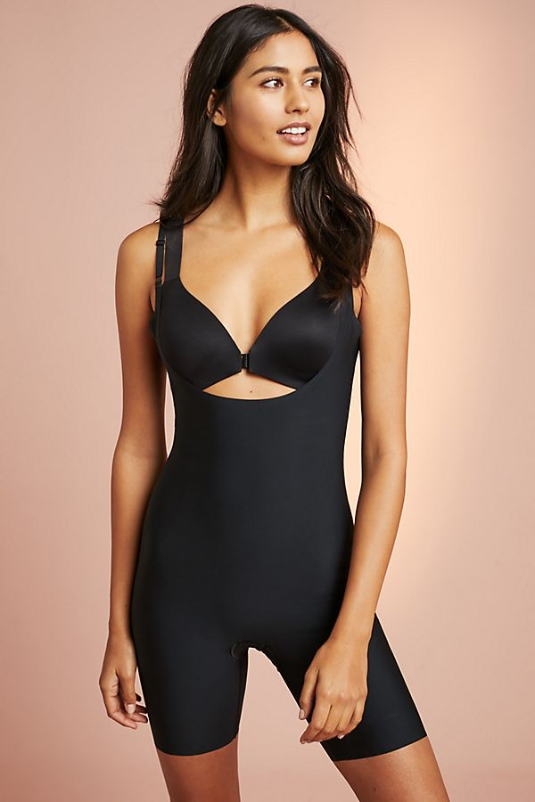 Slide View: 1: Spanx Thinstincts Mid-Thigh Bodysuit