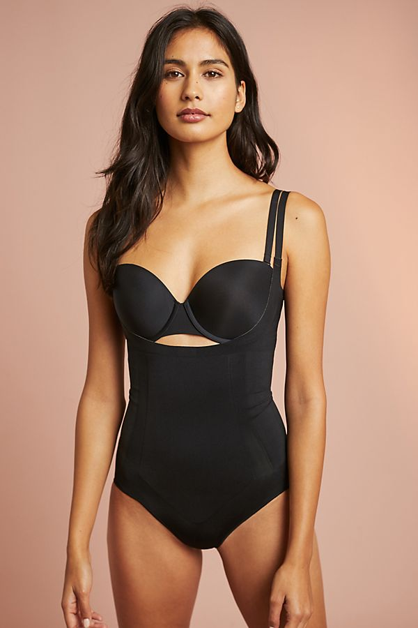 Slide View: 1: Spanx Oncore Open-Bust Panty Bodysuit