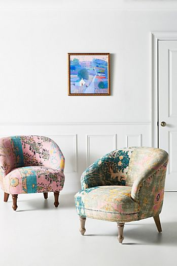 pink - Accent Chairs, Lounge Chairs & Arm Chairs | Anthropologie