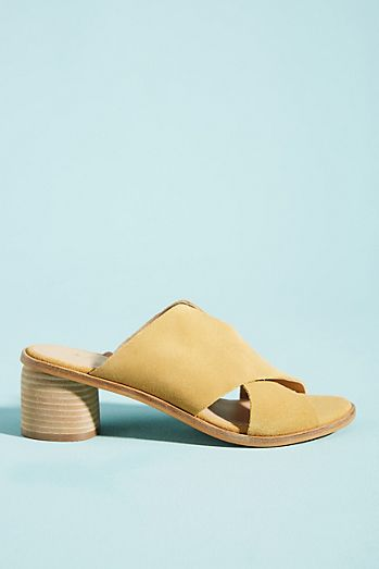 b26445fd723e Anthropologie Criss-Cross Heeled Sandals