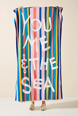 Slide View: 1: You, Me, Sea Beach Towel