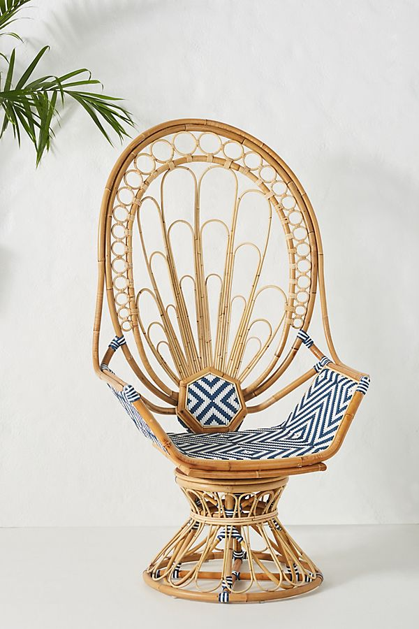 Slide View: 1: Justina Blakeney Peacock Rattan Chair