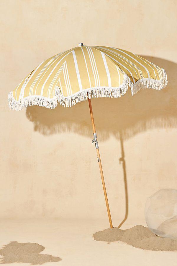 Yellow Beach and Backyard Umbrella with Tassles