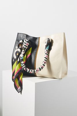 Maliparmi Scarf Embellished Tote Bag by Maliparmi