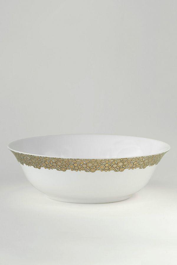 Slide View: 1: Caskata Ellington Shimmer Serving Bowl