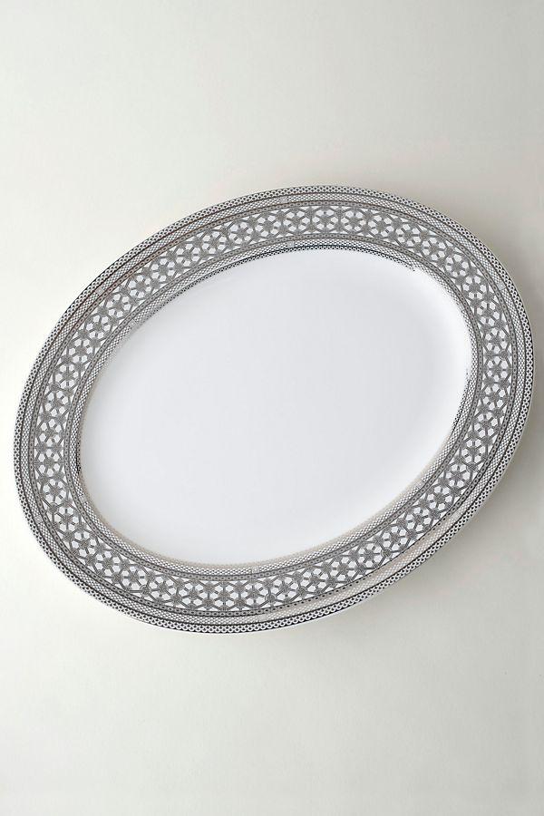 Slide View: 1: Caskate Hawthorne Ice Oval Platter