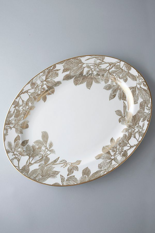 Slide View: 1: Caskata Arbor Gold Oval Platter
