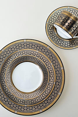 Slide View: 1: Caskata Hawthorne Onyx Five Piece Place Setting