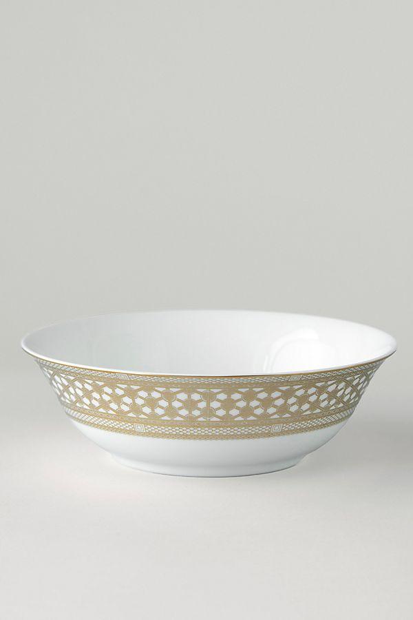 Slide View: 1: Caskata Hawthorne Gilt Serving Bowl