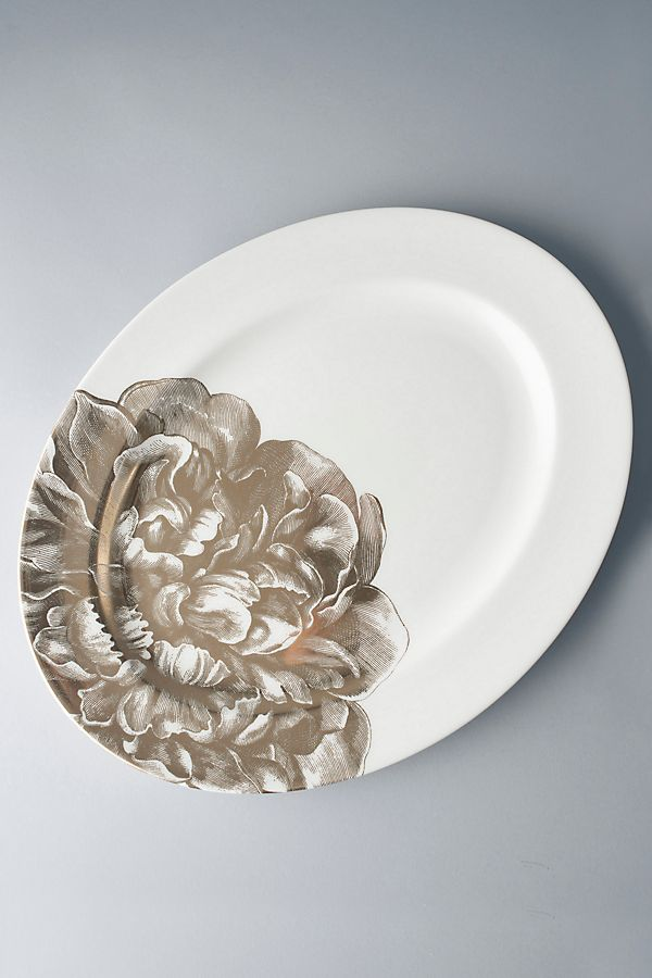 Slide View: 1: Caskata Peony Oval Platter