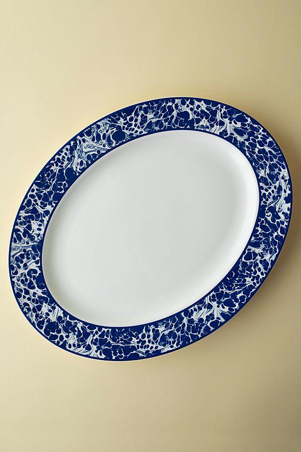 Slide View: 1: Caskata Marble Oval Platter