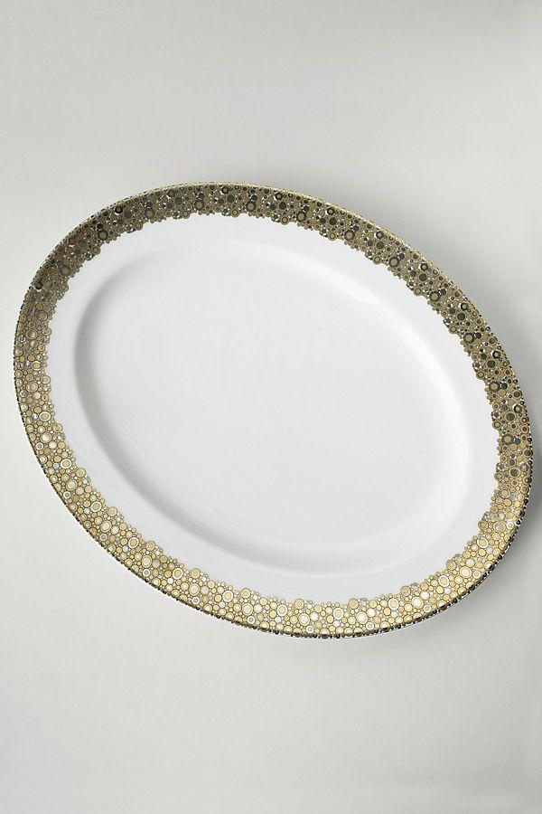Slide View: 1: Caskata Ellington Shimmer Oval Platter
