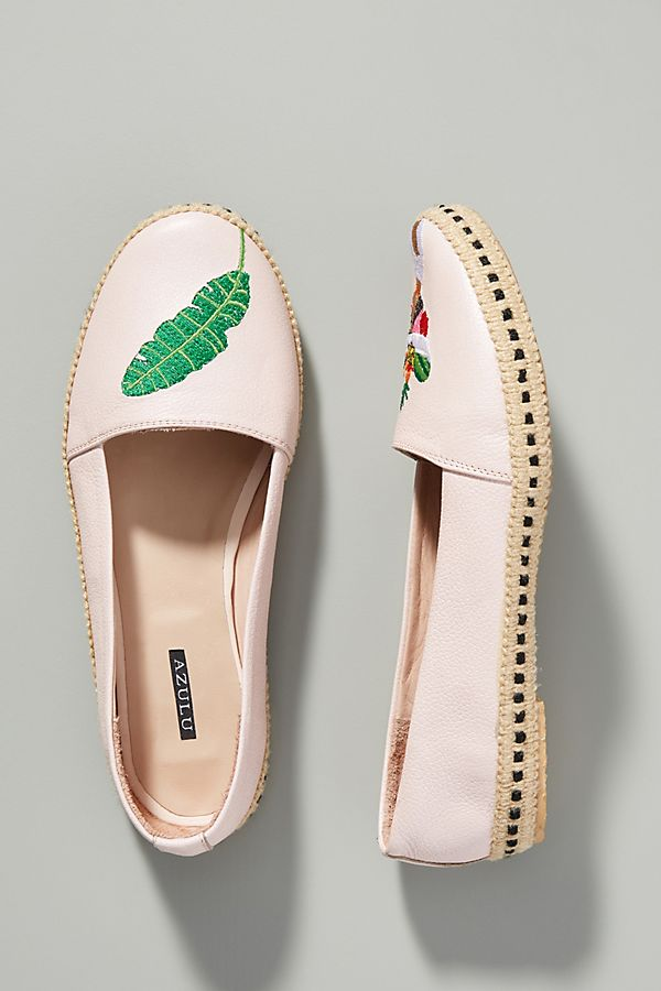 cb832c6c1 Azulu Tropical Embroidered Espadrille Flats | Anthropologie