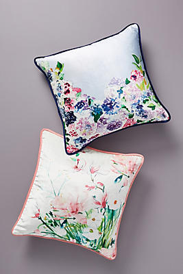 Slide View: 4: Sarah Hankinson Pansies Pillow