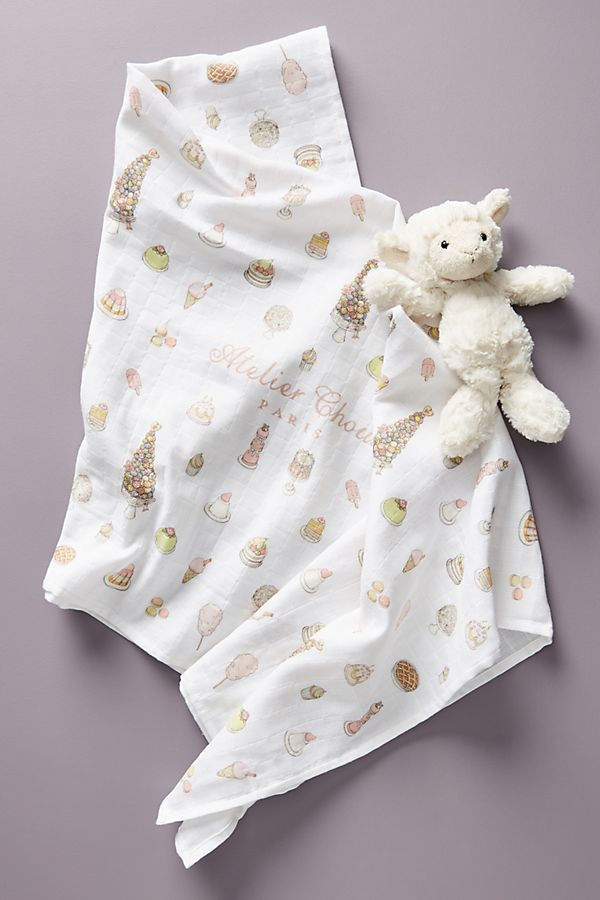 Slide View: 1: Organic Printed Swaddle