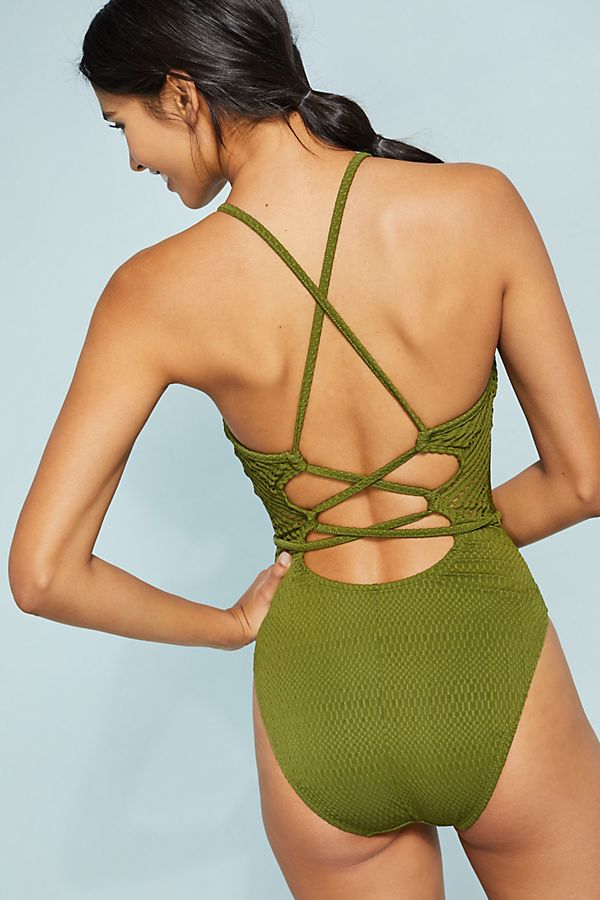 6af318a3a33 Robin Piccone Crochet One-Piece Swimsuit | Anthropologie