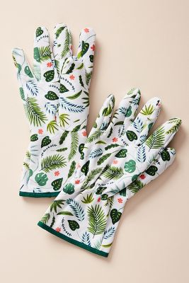 Palm Garden Gloves by Anthropologie