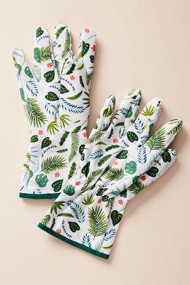 Palm Garden Gloves by Anthropologie