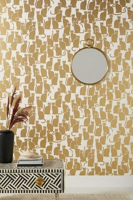 Shadow Cat Wallpaper by Anthropologie