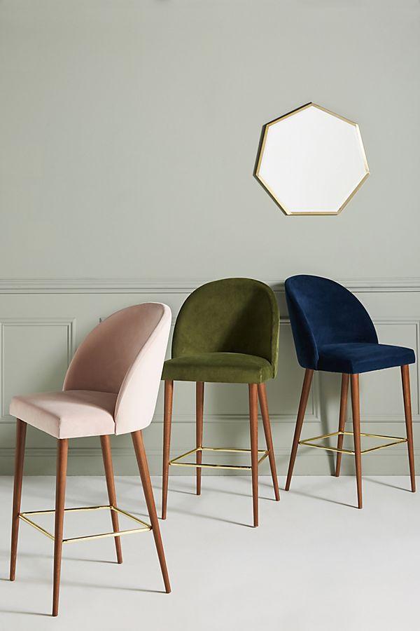 Terrific Velvet Moritz Counter Stool Camellatalisay Diy Chair Ideas Camellatalisaycom