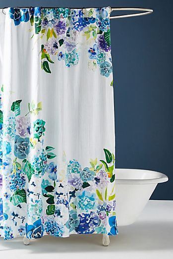 Sarah Hankinson Pansies Shower Curtain