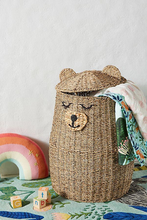 Slide View: 1: Buddy Bear Kids Storage Basket