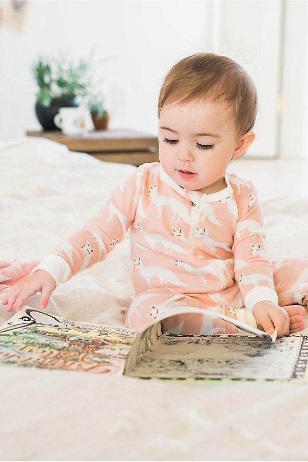 Slide View: 1: Milkbarn Organic Zipper Pajama