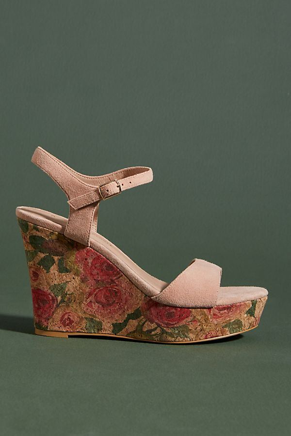 7343be5c3d9 Slide View  1  Anthropologie Floral-Printed Cork Wedge Sandals