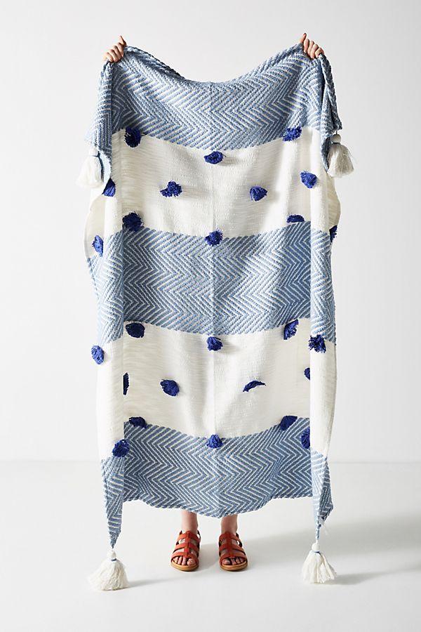 Slide View: 1: Woven Zohra Throw Blanket