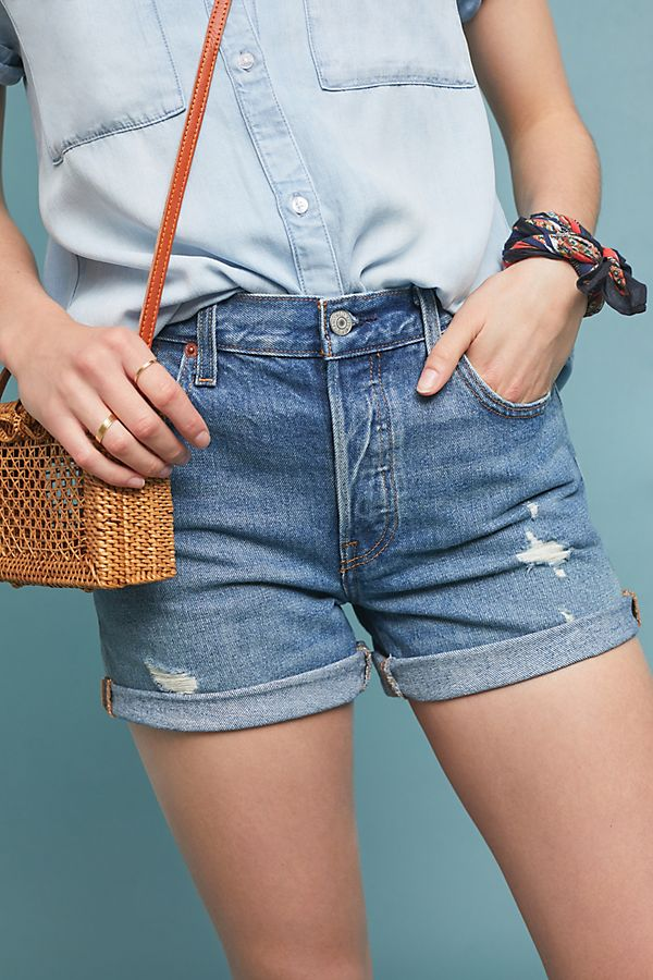 6dac4ad65c Levi's 501 High-Rise Denim Shorts | Anthropologie