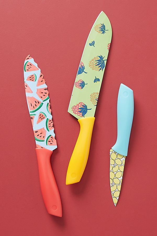 Colloquial Kitchen Knives Set Of 3 Anthropologie