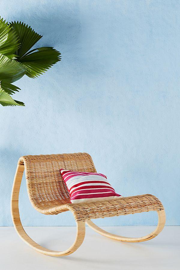 Slide View: 1: Rattan Rocking Chair